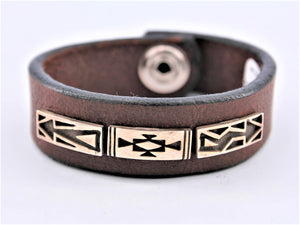 Silver Country Leather Bracelet