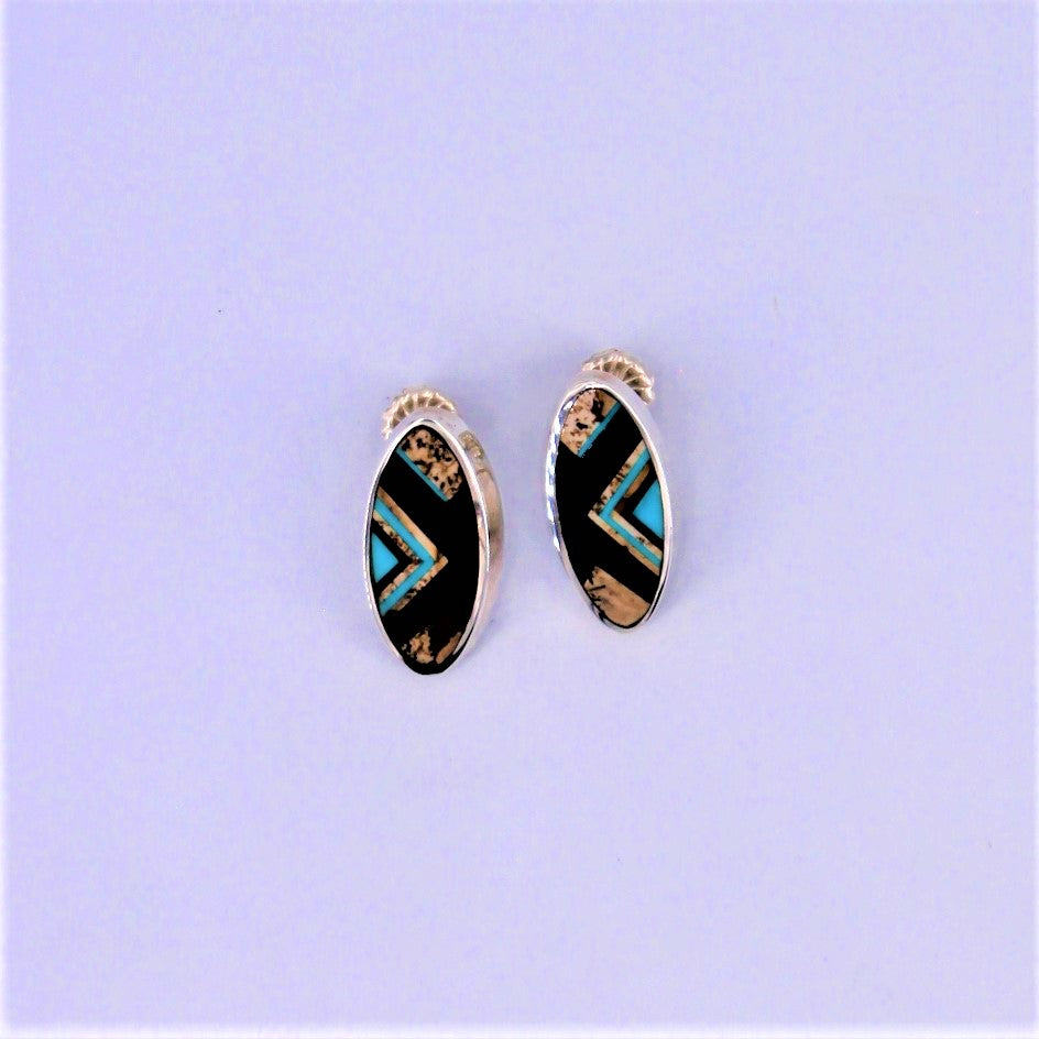 Multi Stone Aztec Earrings