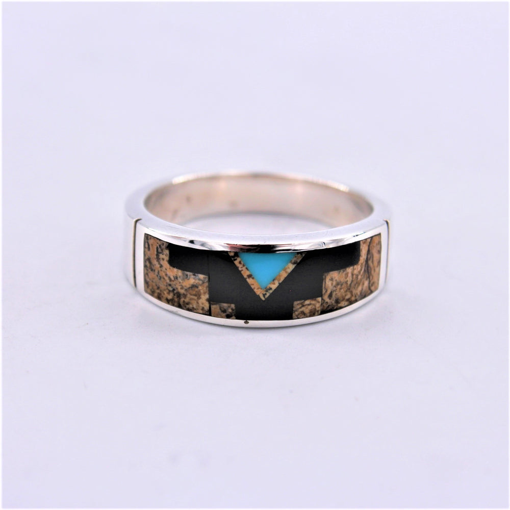Multi Stone Aztec Ring