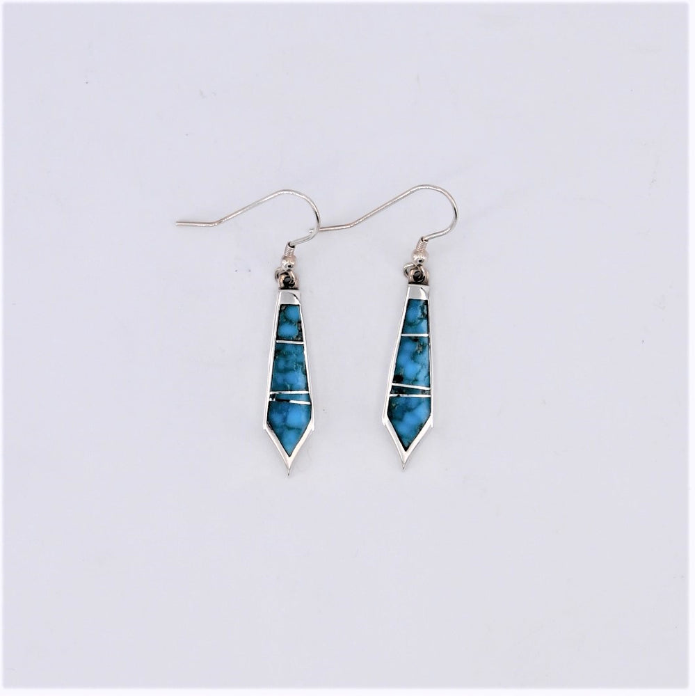 Watermark Turquoise Dangle Earrings