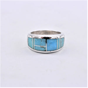 Arizona Blue Wide Ring