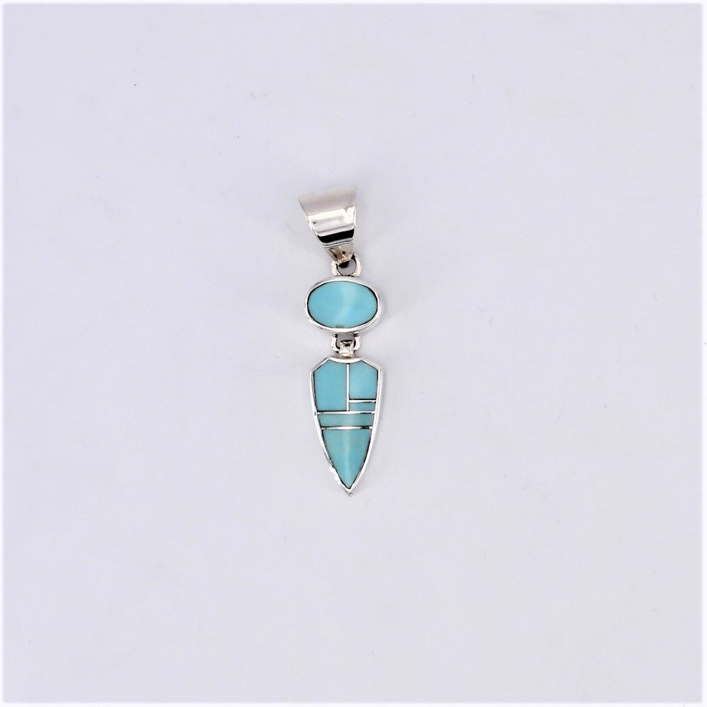 Arizona Blue Inlay Pendant