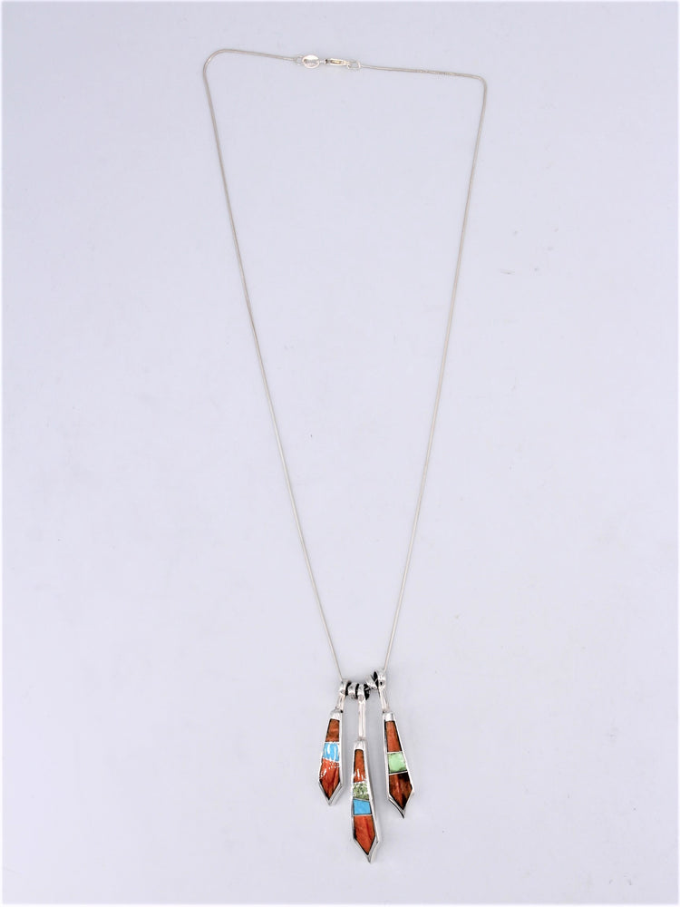 Summer Feather Drop Necklace