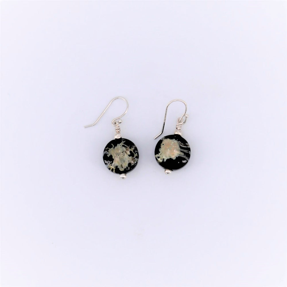 Icarus Black Dangle Earrings