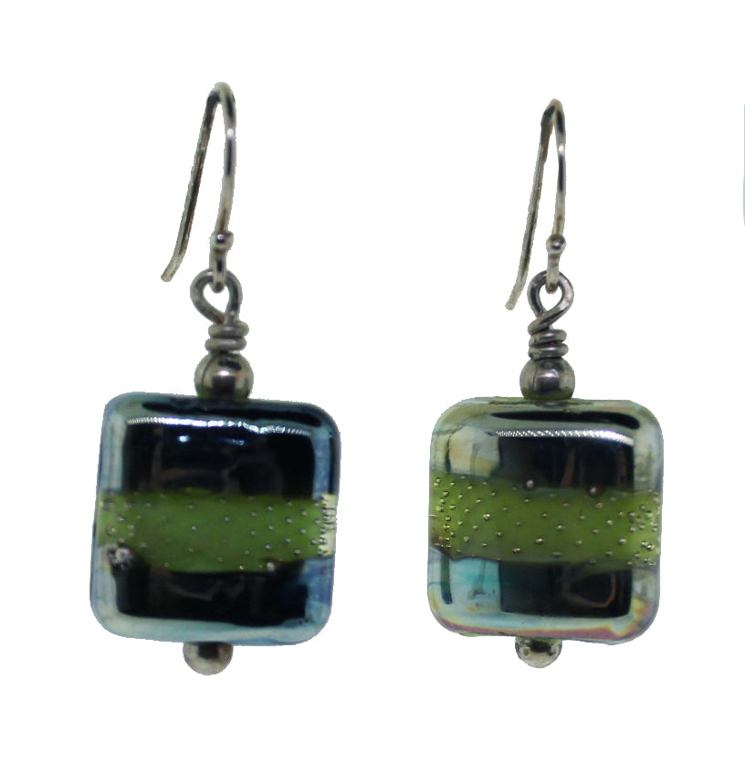 Cosmic Green Earrings