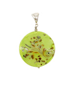 Long Circle Lime Green Pendant
