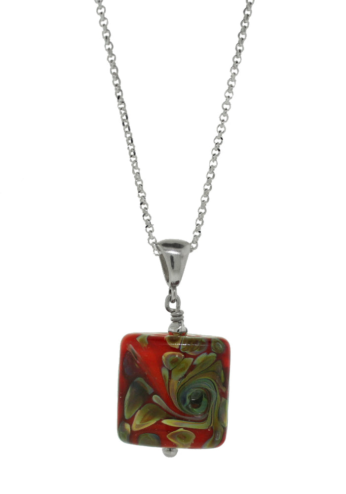 Red Peacock Pendant