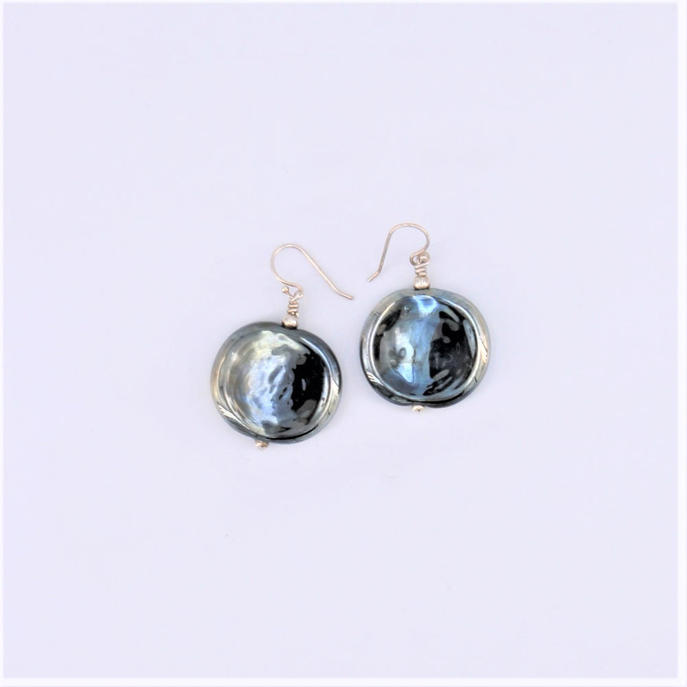 Flat Oval Earrings