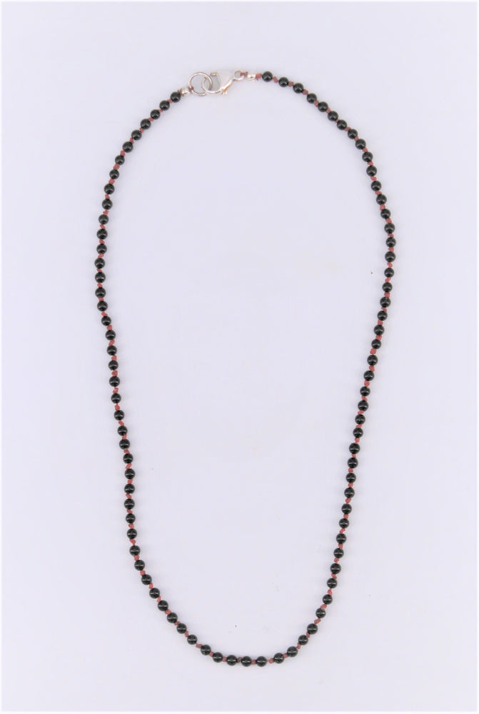 Onyx Silk Necklace
