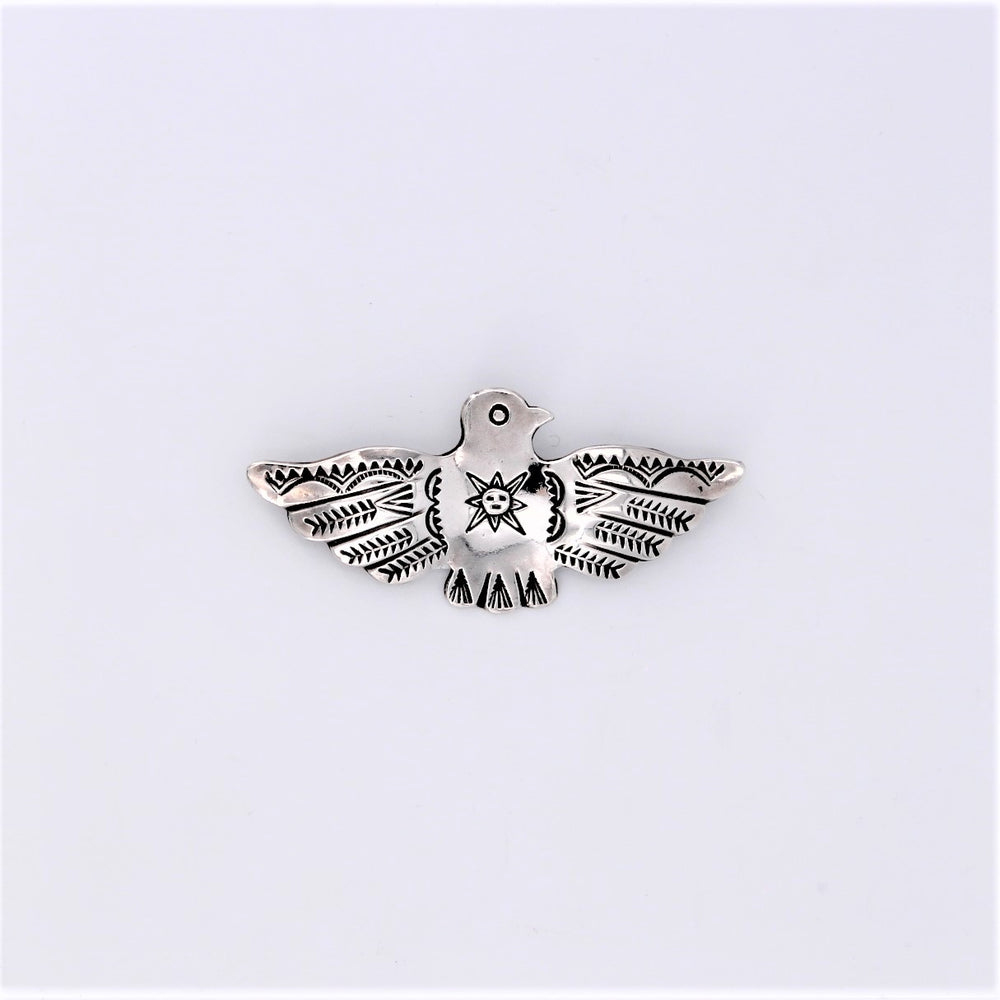 Sterling Silver Thunderbird with Sun Pin