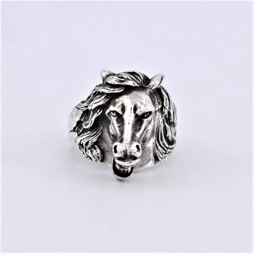 Cast Sterling Silver Horse Ring