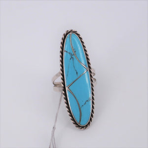 Oval Turquoise Inlay Ring