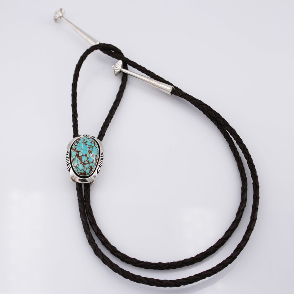 Mona Van Riper: #8 Turquoise and Sterling Silver Bolo Tie