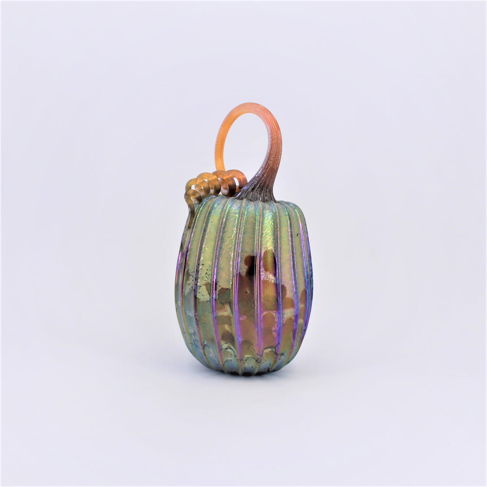 Small Barrel Glass Pumpkin