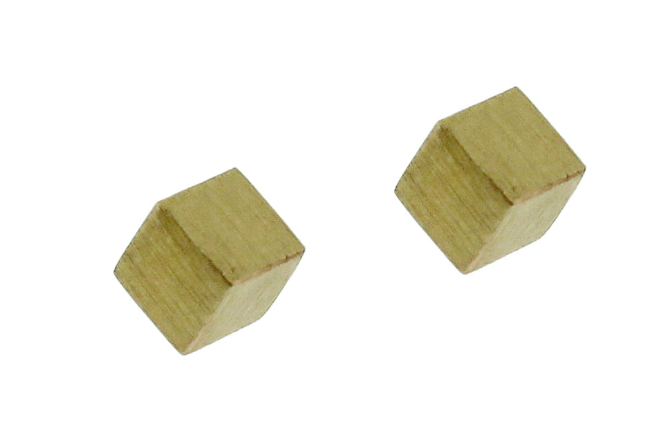 14k Cubic Stud Earrings
