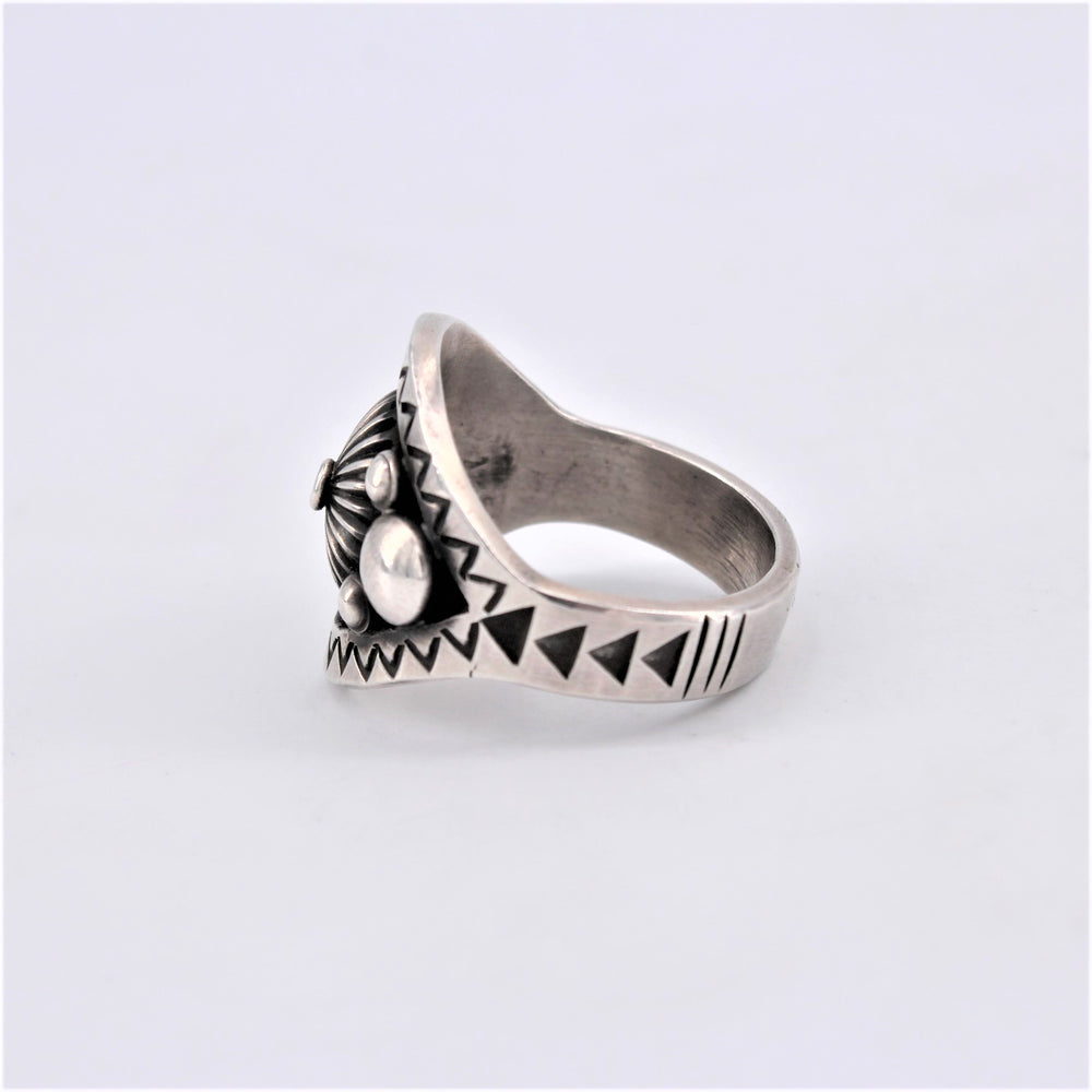 Sterling Silver Bubble & Stamp Ring