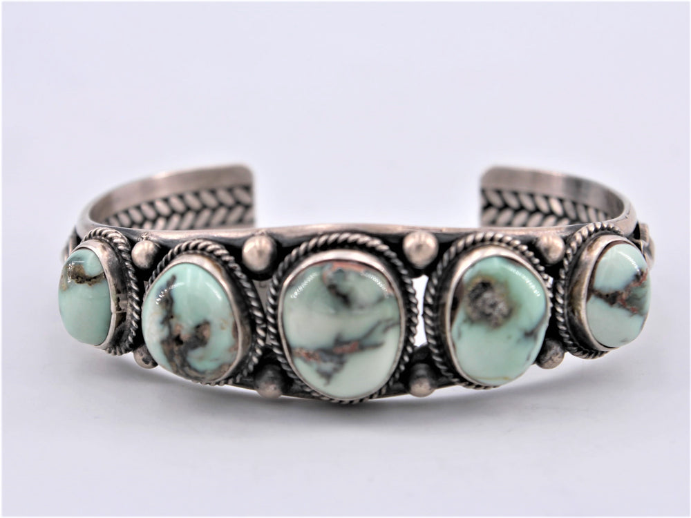 5 Stone Dry Creek Turquoise Cuff