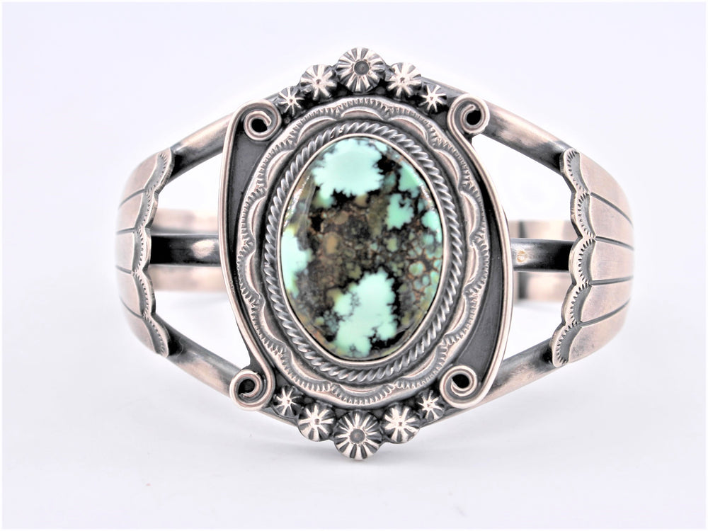 Navajo Green Turquoise Heavy Cuff