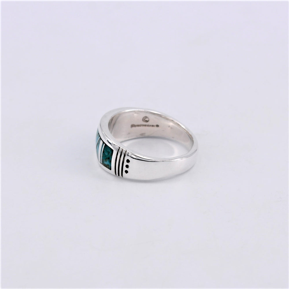 Turquoise Inlay & Sterling Silver Ring