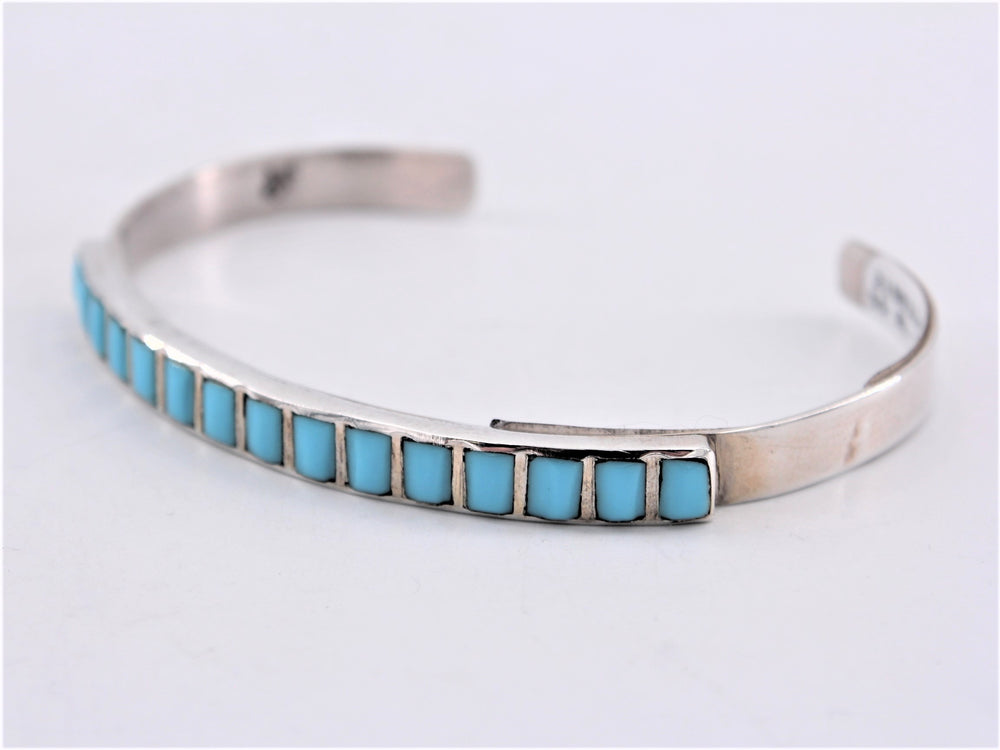 Turquoise Cobble Inlay Cuff