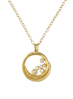 Swirl Diamond Necklace