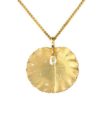 Lotus Leaf Diamond Pendant