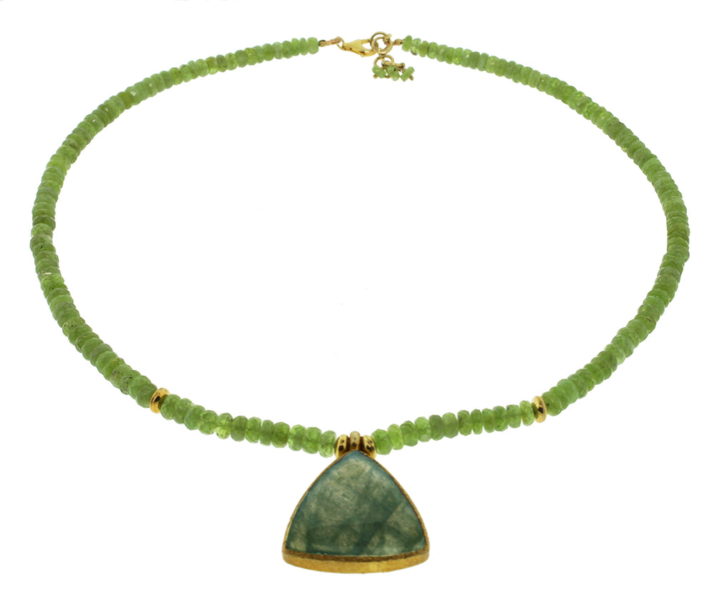Peridot and Labradorite Necklace