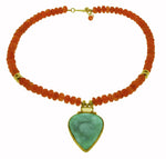 Chrysoprase, Carnelian and Citrine Necklace