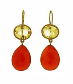 Citrine and Carnelian Earrings