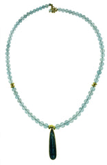 Aqua and Kyanite Necklace