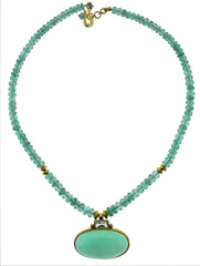 Apatite, Blue Topaz and Chrysoprase Necklace