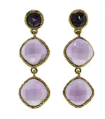 Rose Amethyst Earrings