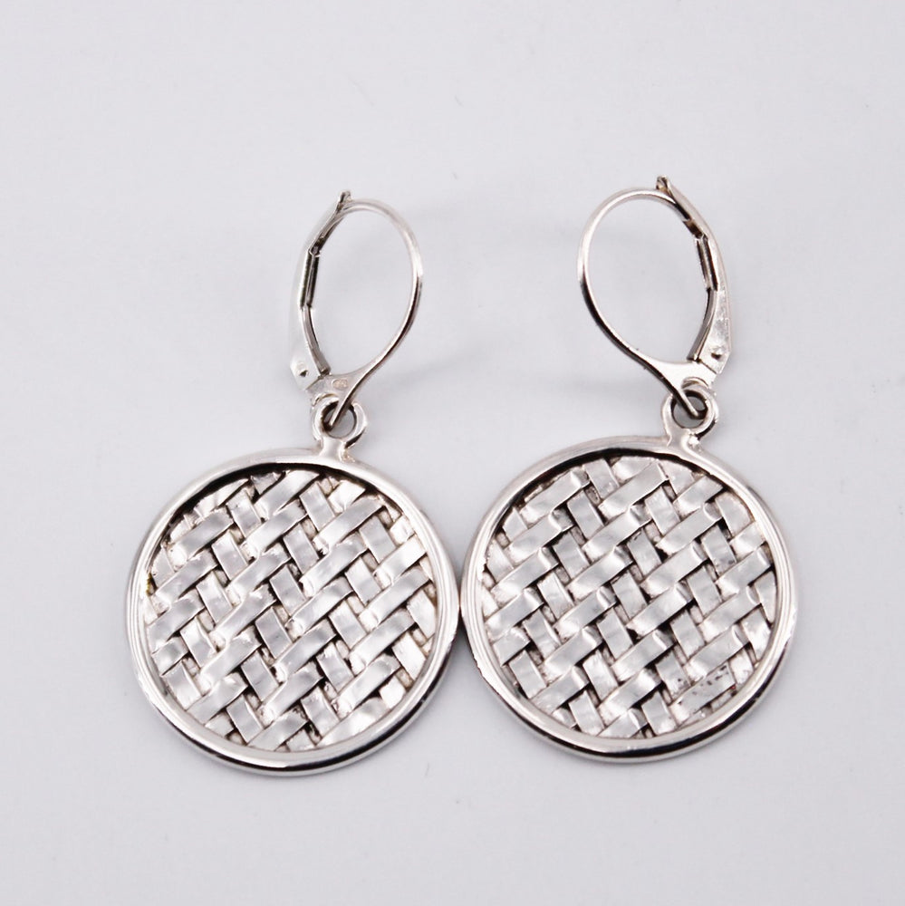 Basket Weave Dangle Earrings