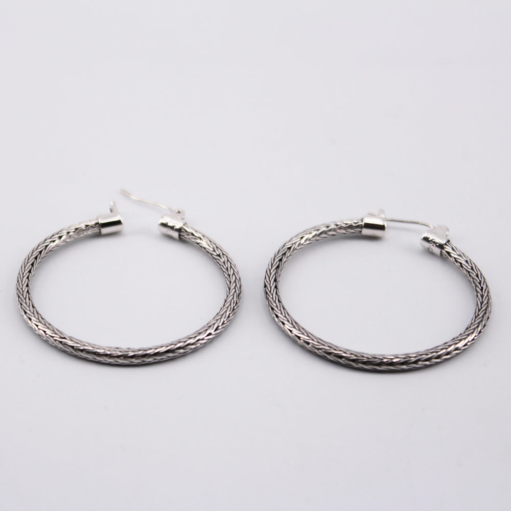 Large Braided Hoop Earrings