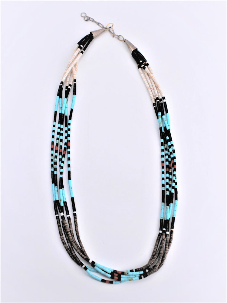 Multi strand Heishi Necklace