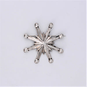 Sand Cast Sterling Silver Star Pin