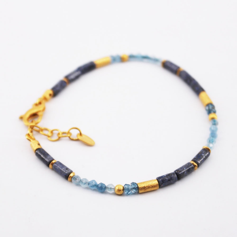 Blue Mix Gemstone Bracelet