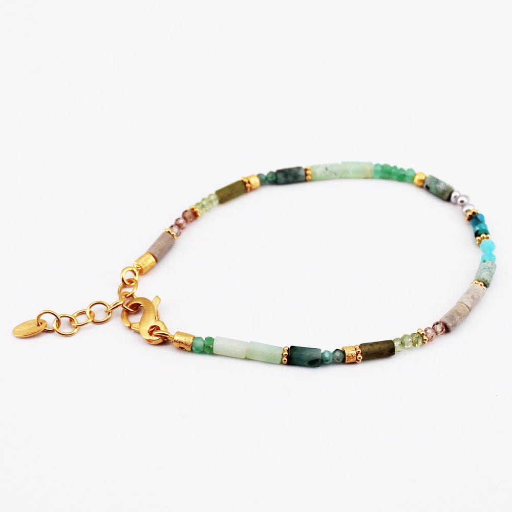 Green Mix Gemstone Bracelet