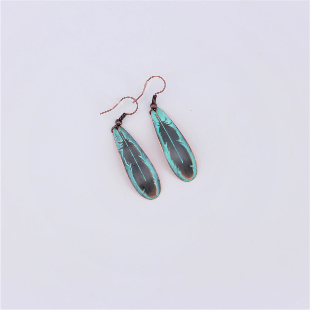 Feather Copper Earring