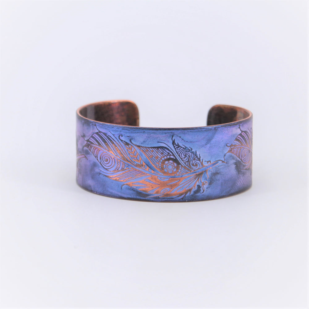 Feathers of Courage Copper Cuff