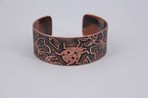 Lady Bug Copper Cuff