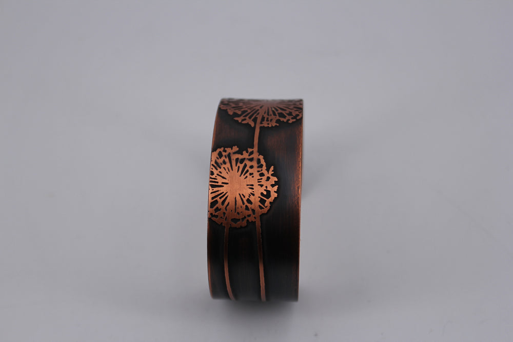 Dandelions Copper Cuff