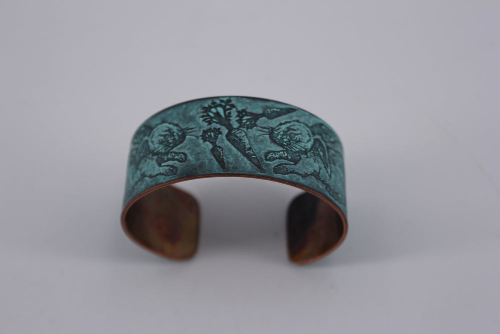 Rabbits Patina Cuff