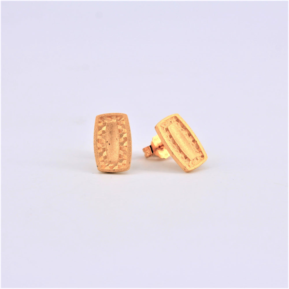 Oblong Rectangle Stud Earrings