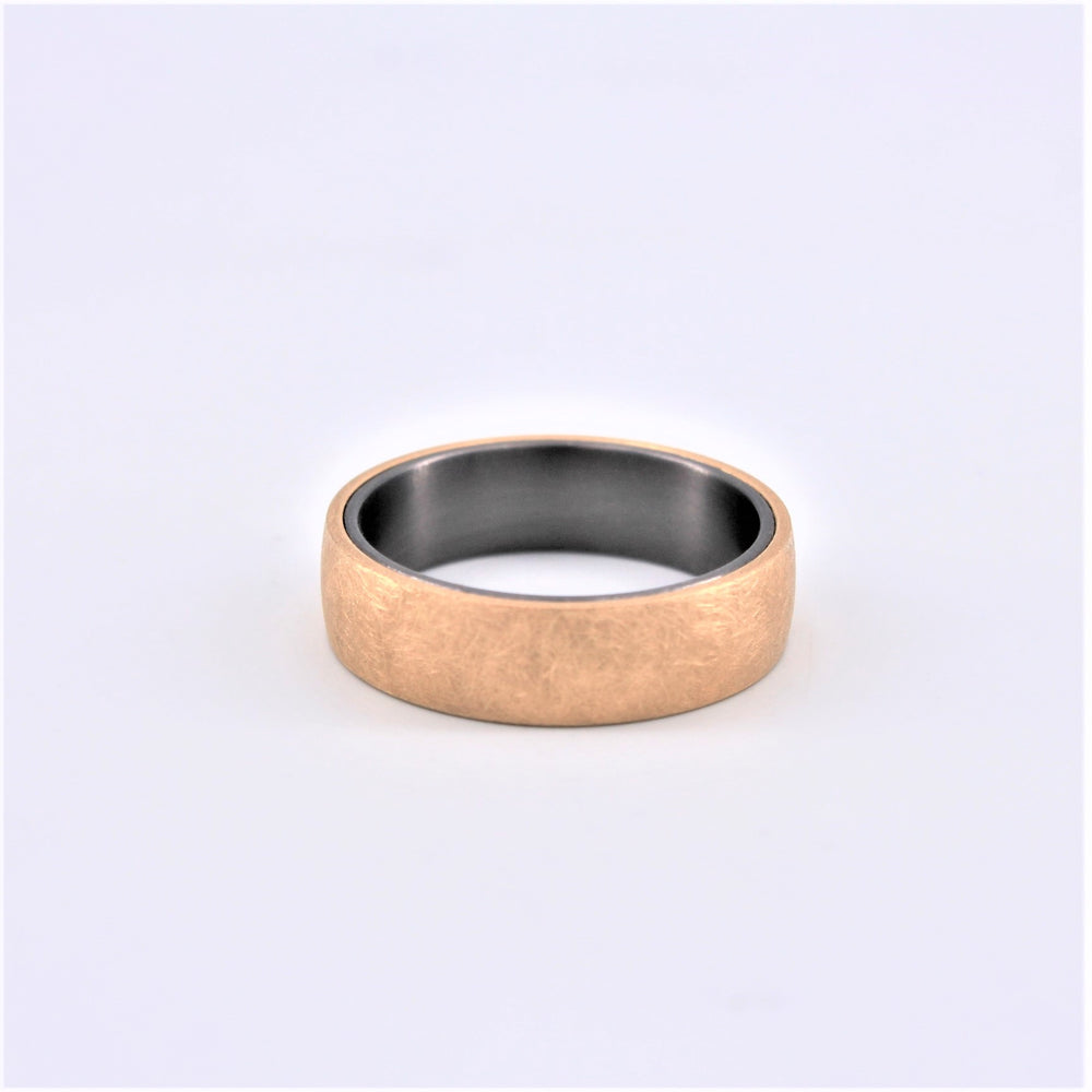 Gold Over Tantalum Wedding Band