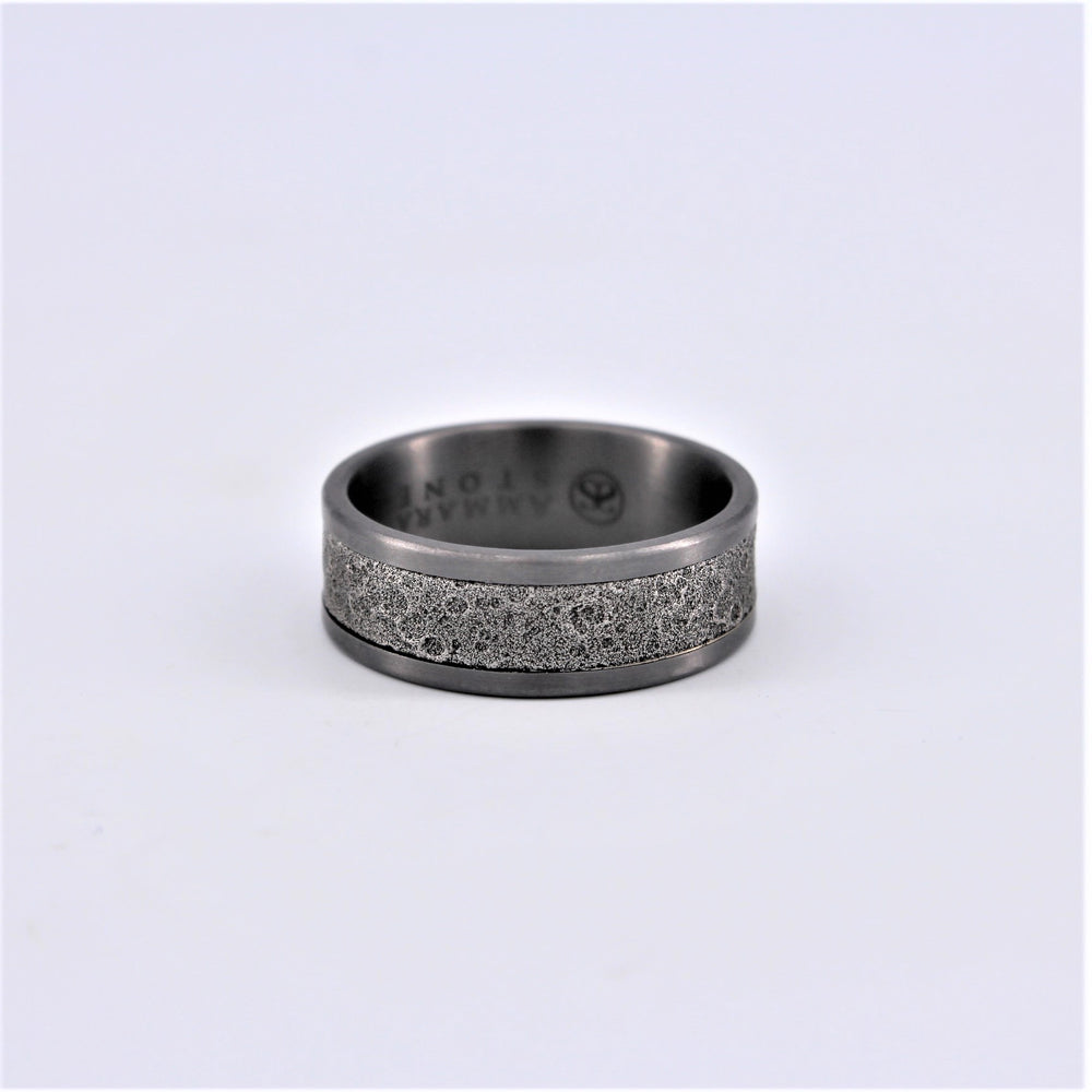 Moon Tantalum Wedding Band