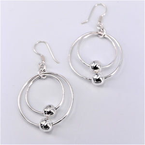 Hoop and Ball Dangle Earring