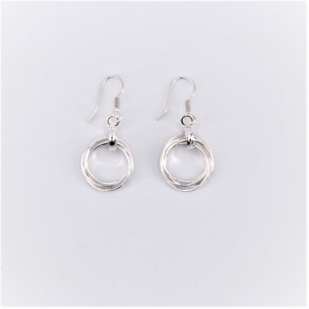 Braided Circle Dangle Earring