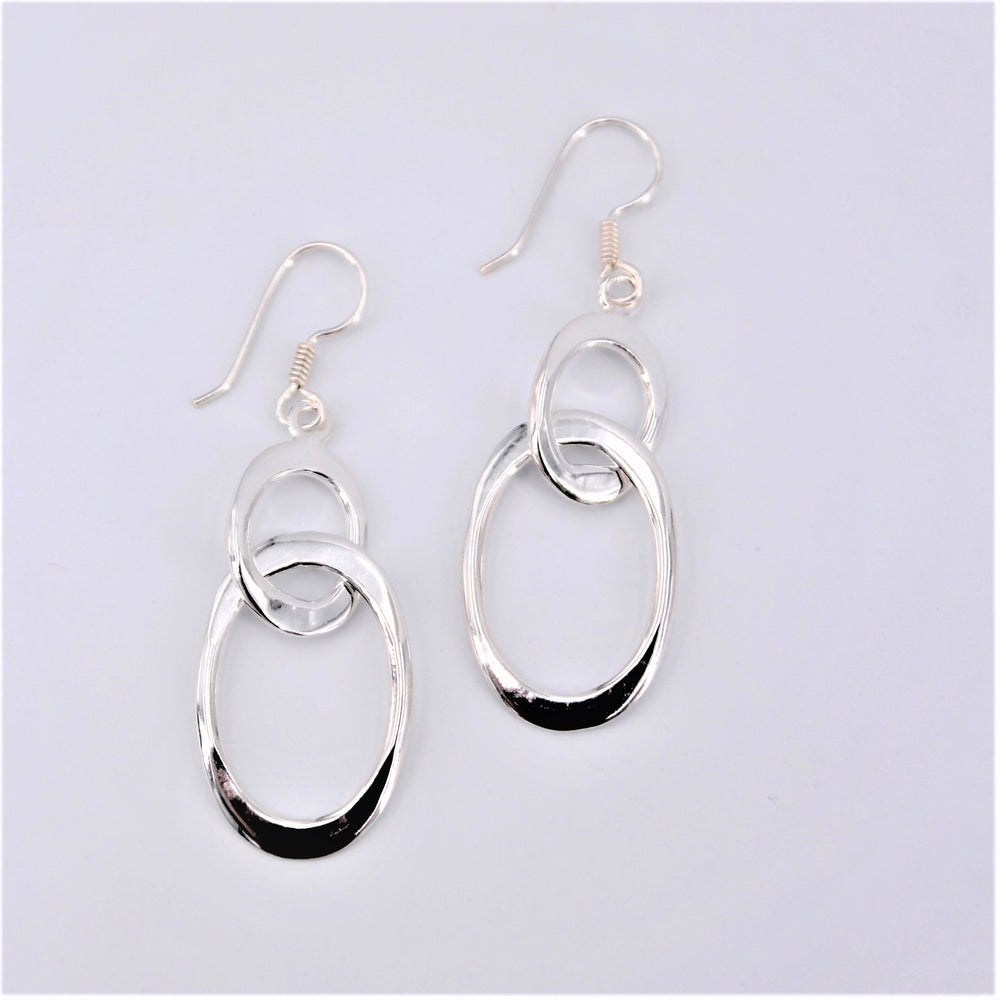 Double Oval Dangle Earring