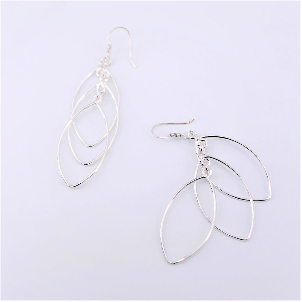 Triple Marquise Dangle Earring